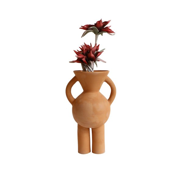 V-neck Terracotta Vase (Without Head)