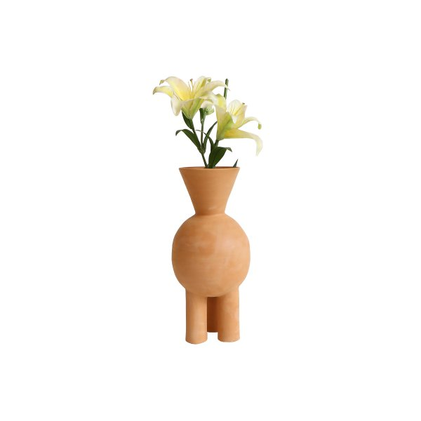 V-neck Three Legged Terracotta Vase (Can be used upside down)