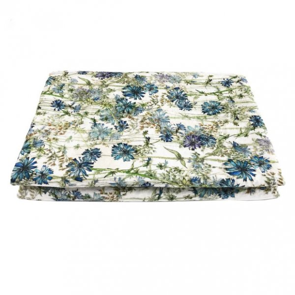 Wild Chicory Linen Table Cloth