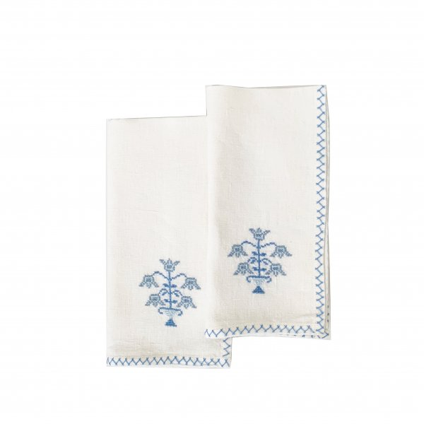 Tulip Napkin Blue, Set of 2