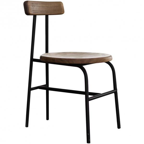 I Collection Wooden Chair with Metallic Structure