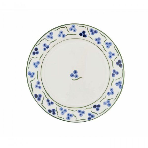Blue and Green Chintamani Large Plate