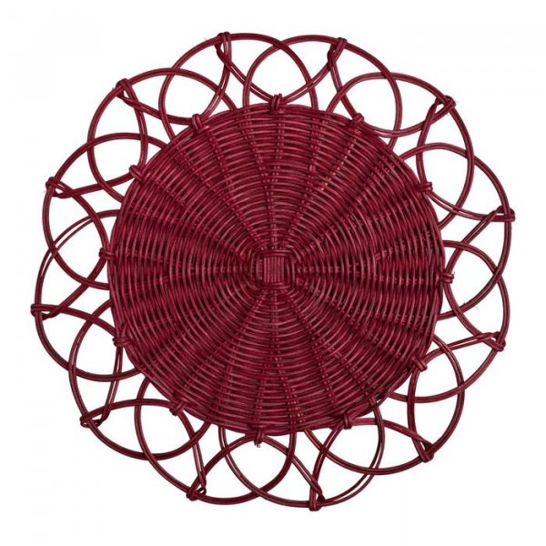 Red Wicker Table Mat